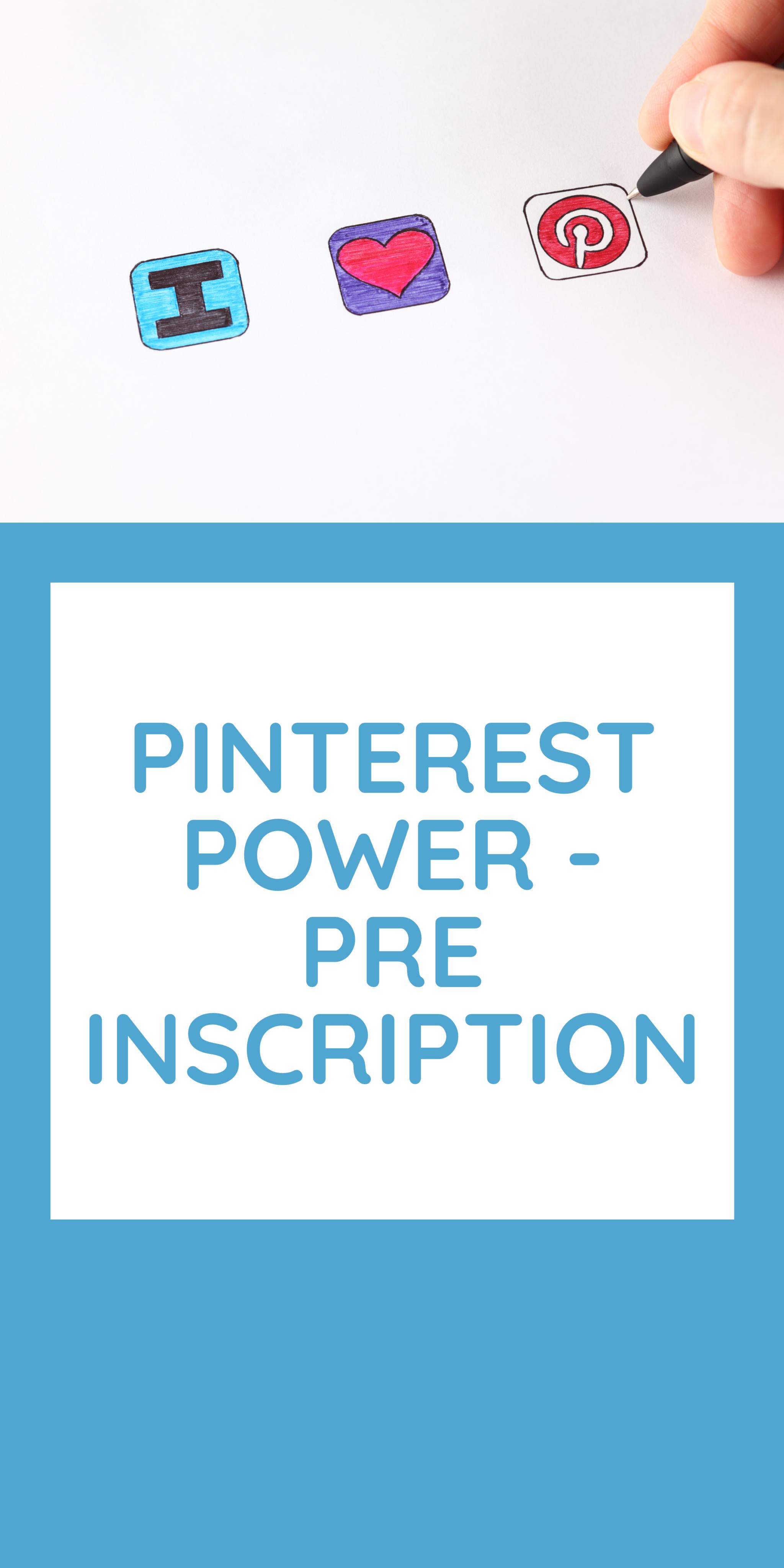 Marjency - atelier pinterest power pré inscription